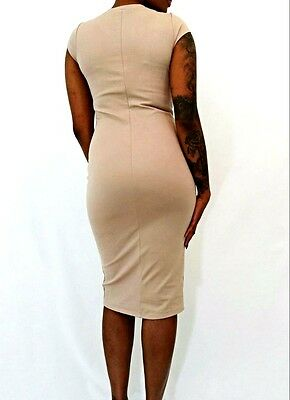 Wholesale Taupe Fitted Dresses - Pack of 2(S), 1(M, 1(L)