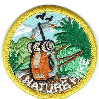 Boy Girl NATURE HIKE HIKER trip trail Fun Patches Crests GUIDES SCOUTS Hiking