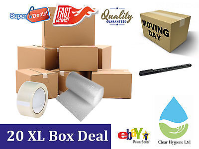 NEW 20 EXTRA LARGE Cardboard House Moving Boxes - Removal Packing box