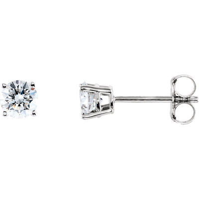 1 4 Ctw Diamond Stud Earrings In 14k White Gold