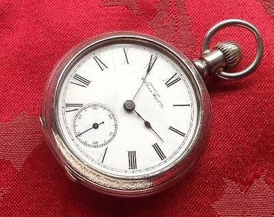 Large American Waltham Coin Silver Pocket Watch For Restoration