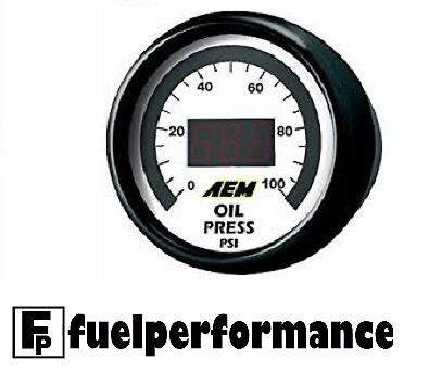 NEW AEM DIGITAL OIL / FUEL PRESSURE Gauge 0-100PSI 30-4401