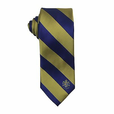 Sigma Alpha Epsilon SAE Striped Crest Design Tie - Brand New Product!