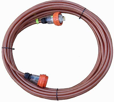 15 Amp IP66 Screened Extension Lead: 3 pin flat,240V. Cable CSA:2.5mm², Cord:5m