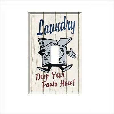Funny Laundry Drop Your Pants Here Light Switch Plate Wall Cover