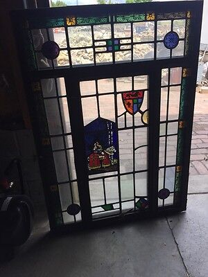 Sg 41 Vintage Stainglass Window In Thermal Sash