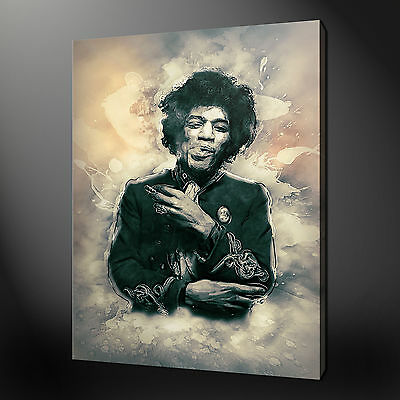 Jimi Hendrix Abstract Wall Art Canvas Print Picture Variety Of Sizes Available