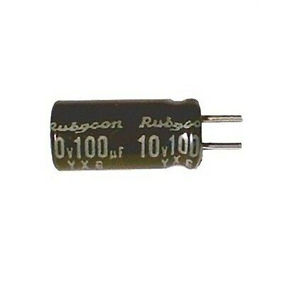 Lot of 15 Electrolytic Capacitor 100uF 10V 105C Rubycon