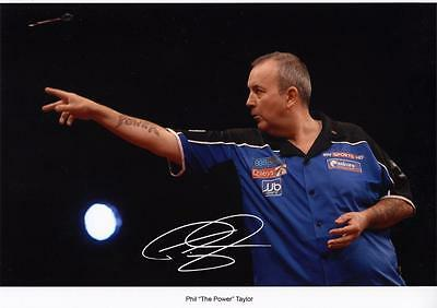 "Phil ""the Power"" Taylor Autographed Signed A4 Pp Poster Photo"