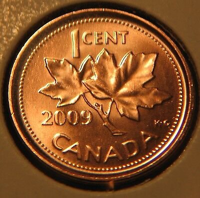 CANADA Lot of 3 x 1 CENT 2009L magnetic -MS