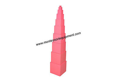 Montessori Sensorial Material - Beech Wood Pink Tower - New