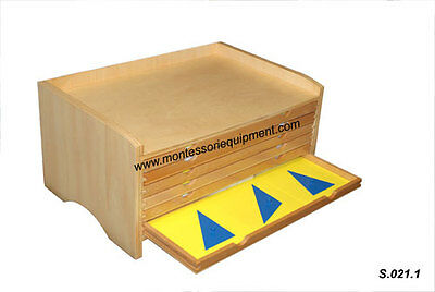 MONTESSORI SENSORIAL GEOMETRIC CABINET with 35 INSETS - NEW