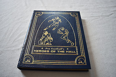 Easton Press NFL PRO FOOTBALL'S HEROES OF THE HALL Leather RARE Illustrated!