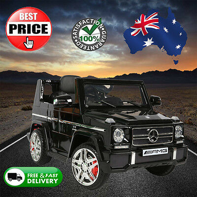 Black Childrens Mercedes G65 AMG Ride On Electric Car Kids W Remote Music Lights