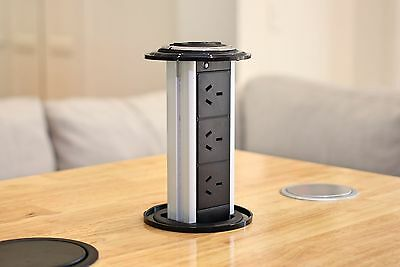 V5WOB Waterproof Kitchen Pop Pull Up Power Point Outlet Socket Bench Top