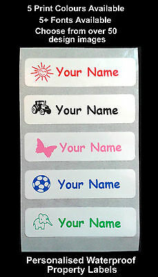 25 Personalised Stick on school nursery name labels