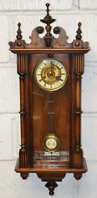 Antique Vienna Spring Wall Clock c1890 Germany // Working !! - FREE P&P [PL2275]