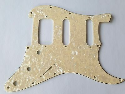 Stratocaster HSS guitar pickguard 4ply Ivory pearl fits fender brand new