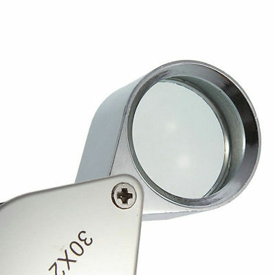 30X Glass Magnifying Magnifier Jeweler Eye Jewelry Loupe