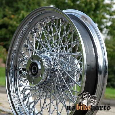 "80 spoke wheel rim 3,5"" x 16"" front for Harley Davidson and custom bikes chrome"