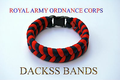 Royal Army Ordnance Corps Handmade Paracord Wristband Un-Official Help For Heros
