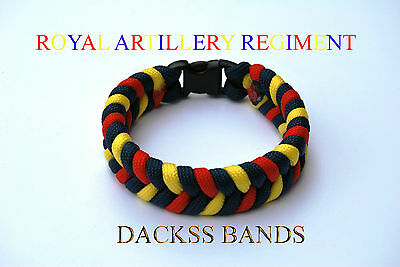 Royal Artillery Regiment Hand Made Paracord Wristband Un-Official Help For Heros