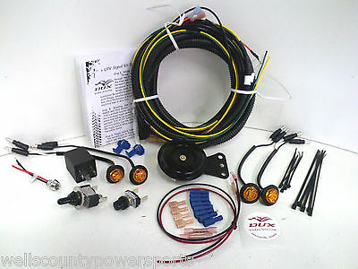 kubota rtv turn signal horn kit street legal wiring harness led polaris rzr street legal turn signal lights horn kit dux led 4x4 sxs 570 800 900