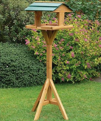 NEW QUALITY Wooden Bird Feeder Table FEEDING AND NESTING Traditional Station
