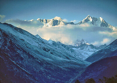 Art print POSTER Himalayan Mountains and Cloud, Nepal