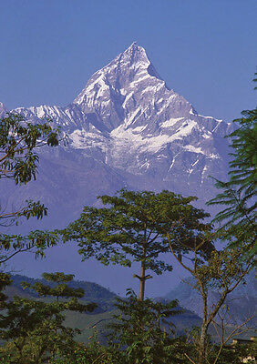 Art print POSTER Machapuchare Mountain, Nepal