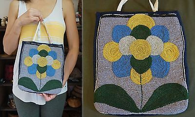 Fine 1900 Native American Plateau Contour Beaded Bag with Floral Pattern