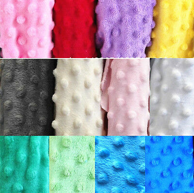 Dimple MINKY DOT Soft Cuddle Plush Fleece Fabric Baby Sewing Crafts Blanket BTY