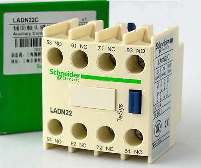 New Schneider Auxiliary Contact Block LADN22C