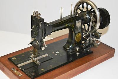 19c FRISTER & ROSSMANN Mother of Pearl Hand Crank Sewing Machine [PL2278]