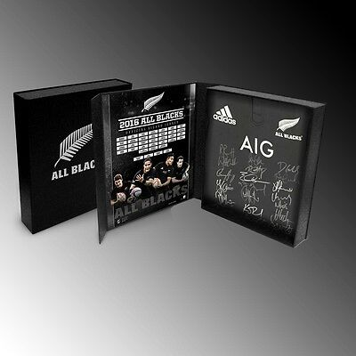 Official Rugby Union New Zealand 2016 All Blacks Squad Team Signed Jersey Boxed