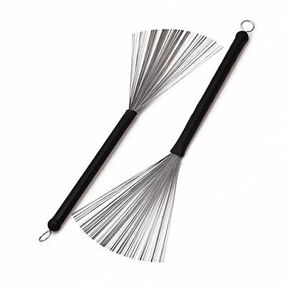 Wire Retractable Loop End Drum Brushes for Jazz Drum Stick (Pack of 2)