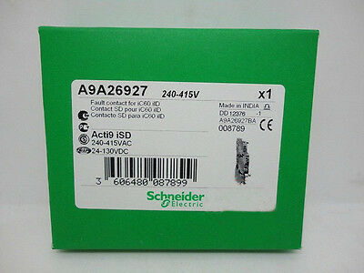 New Acti9 A9a26927 Schneider Auxiliary Contact 240-415Vac 24-130Vdc