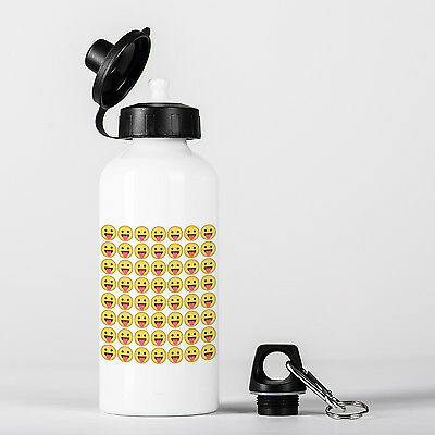 Face with Stuck-Out Tongue Emoji Smile Pattern Aluminium Water Bottle