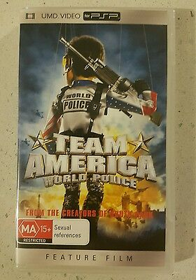 Team America World Police - PSP UMD Movie Sony Playstation Portable R4 Australia
