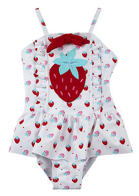 BABYTOWN Baby Girls Toddler Swimwear Swim Bathing Costume 3-24 Months Strawberry