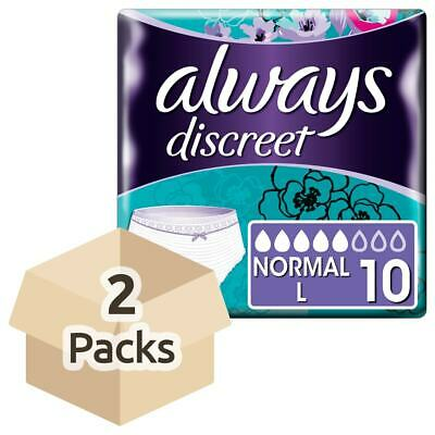 Always Discreet Incontinence Pants Normal - Large - 2 Packs of 10