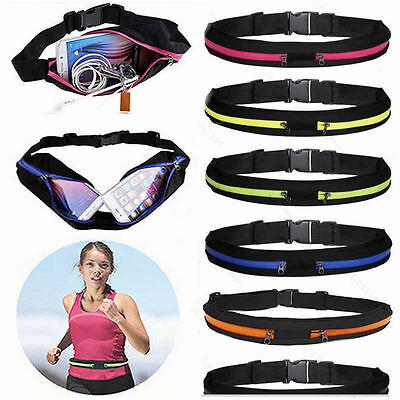 Sports Fanny Pack Belly Waist Bum Bag Fitness Jogging Cycling Running Belt Pouch