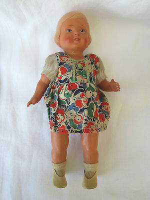 "Vintage German Celluloid Doll 10"".. Cellba Schoberl & Becker..orig. Clothing"