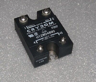 Crydom H12Wd4890 Panel Mount Solid State Relay 48-660 Vac 90 Amp H12Wd Series