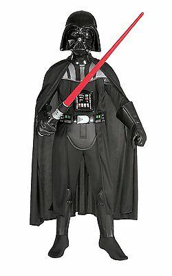 Star Wars Deluxe Darth Vader Child Kids Boys Costume Size Large 12-14 Halloween