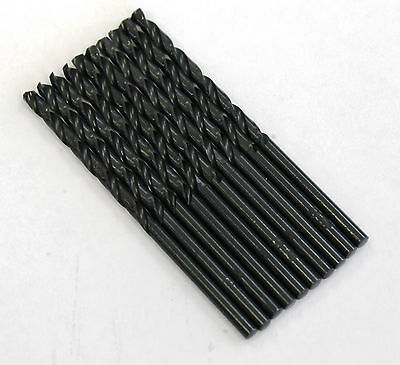 "9/64"" Black Oxide Drill Bit - M2 High Speed Steel - 135 Split Point Tip - 10 pk"