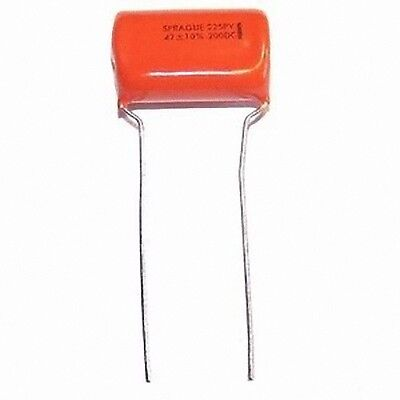 Lot of 2 Sprague Orange Drop Capacitor 0.47uF 200V 225P