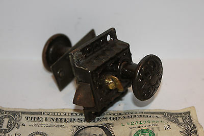(AA-10186) Antique Victorian SARGENT + CO. Door/Cabinet Lock Set, ESTATE FIND