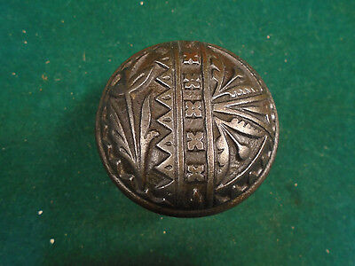 1885 BRONZE CAST IRON EAST LAKE DOOR KNOB (Blumin B-127) (5869)