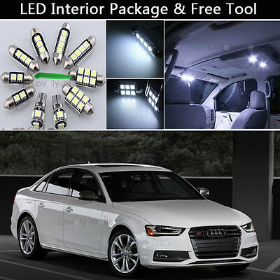 15PCS Canbus LED Interior Lights Package kit Fit 2009-2014 Audi A4 B8 SEDAN J1